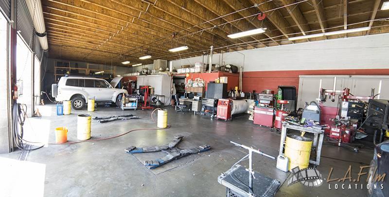 auto repair shop 3 la film locations. Black Bedroom Furniture Sets. Home Design Ideas